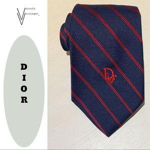 Vintage Christian Dior Silk Blend Necktie